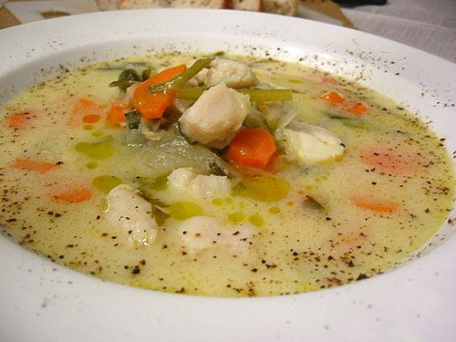Delicious greek soup dionysus table pinterest for Fish broth recipe