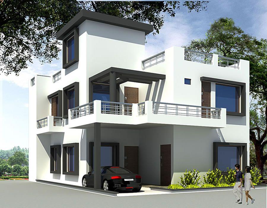 3d Exterior View Phocus Didacus Duplex House Design House Plans Home Building Design