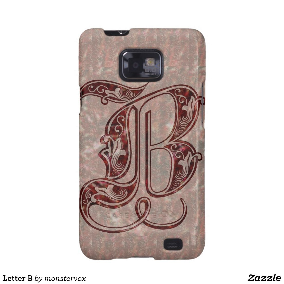 Letter B Galaxy Sii Cover Alphabet Letter Art Mobile Phone