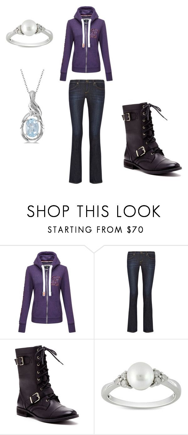 """""""Annabeth7"""" by keira-mai ❤ liked on Polyvore featuring Superdry, AG Adriano Goldschmied, Sole Society, Ice, Allurez, women's clothing, women, female, woman and misses"""