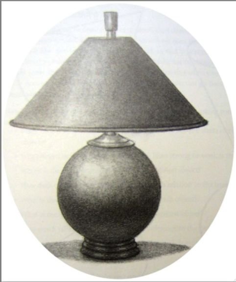 Primitive Lamp Drawing in shaded light