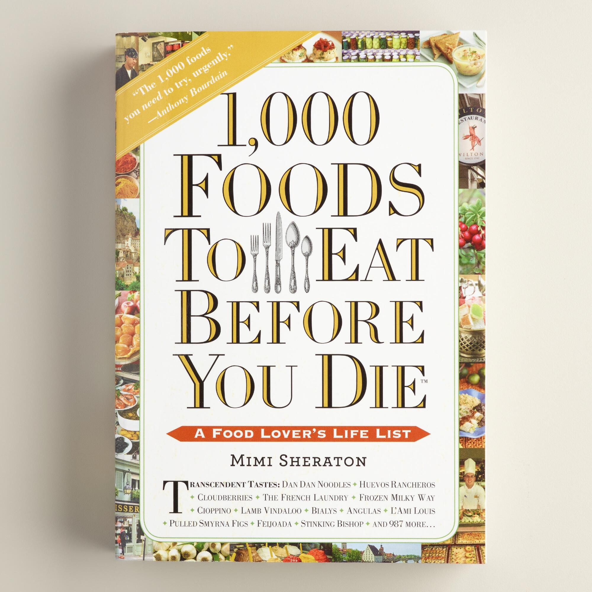 """1,000 Foods to Eat Before You Die"" Book"