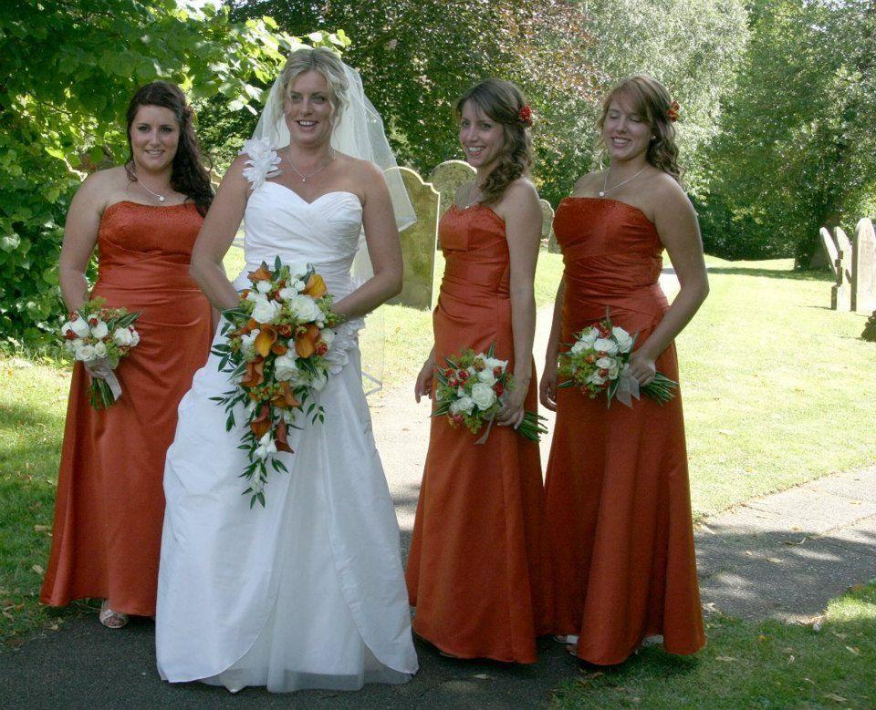 Orange Gown Wedding: Burnt Orange Wedding Bouquets