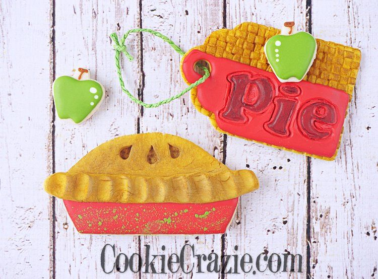 Applicious Decorated Cookie Collection Pie decoration
