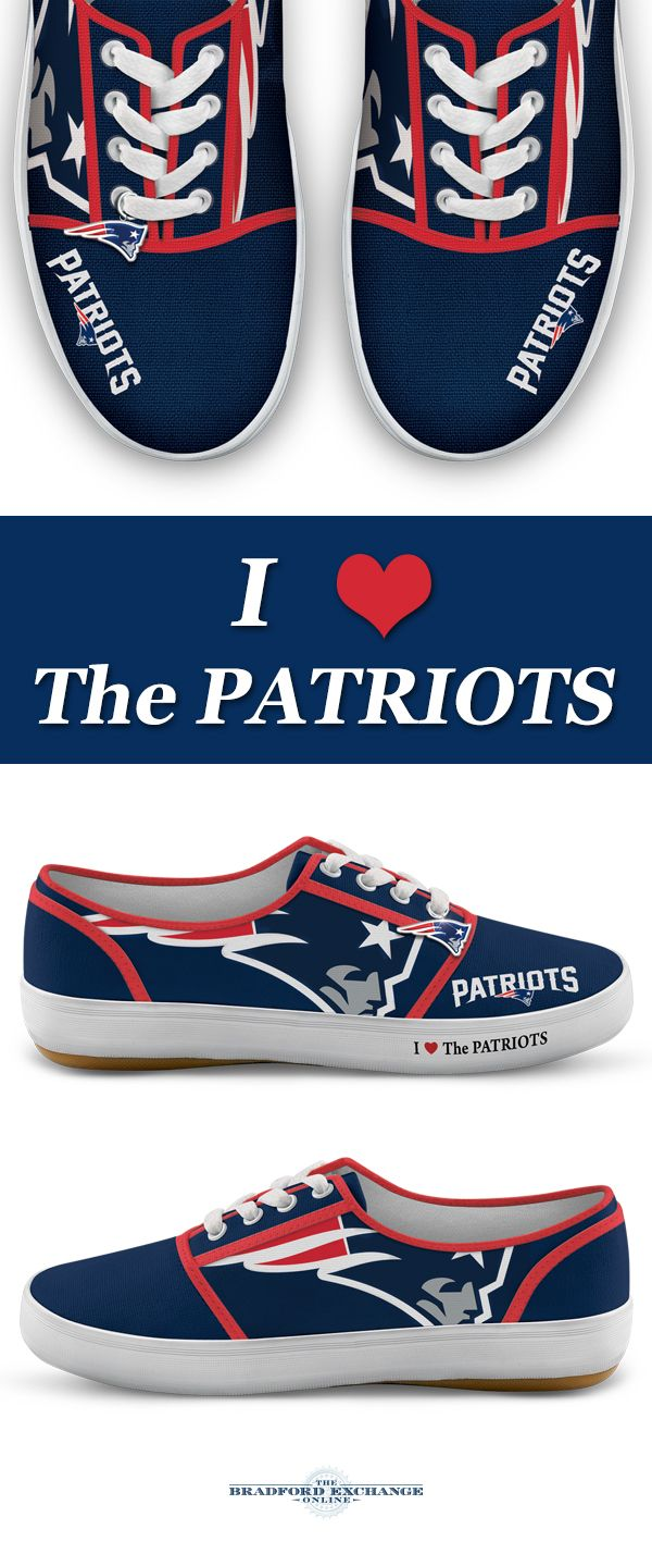 e462e879a67c2 NFL-Licensed New England Patriots Women's Canvas Sneakers | New ...
