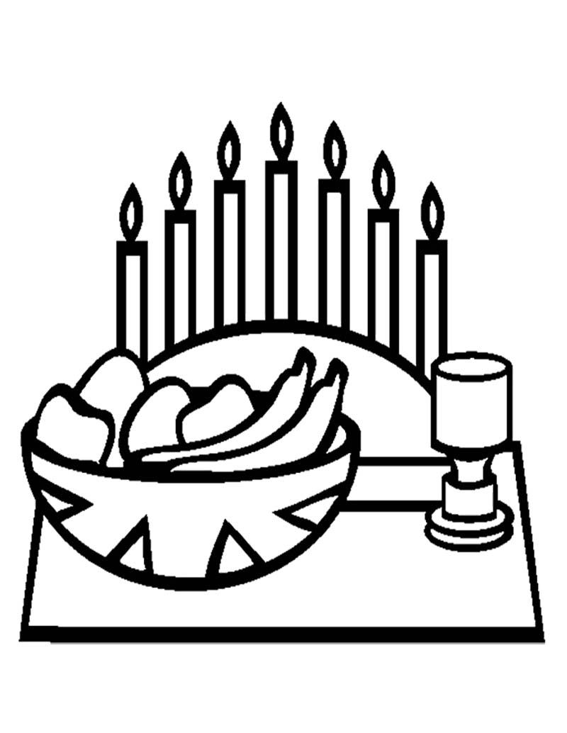 Kwanzaa With Food Coloring Page | Kwanzaa Coloring Page | Pinterest ...