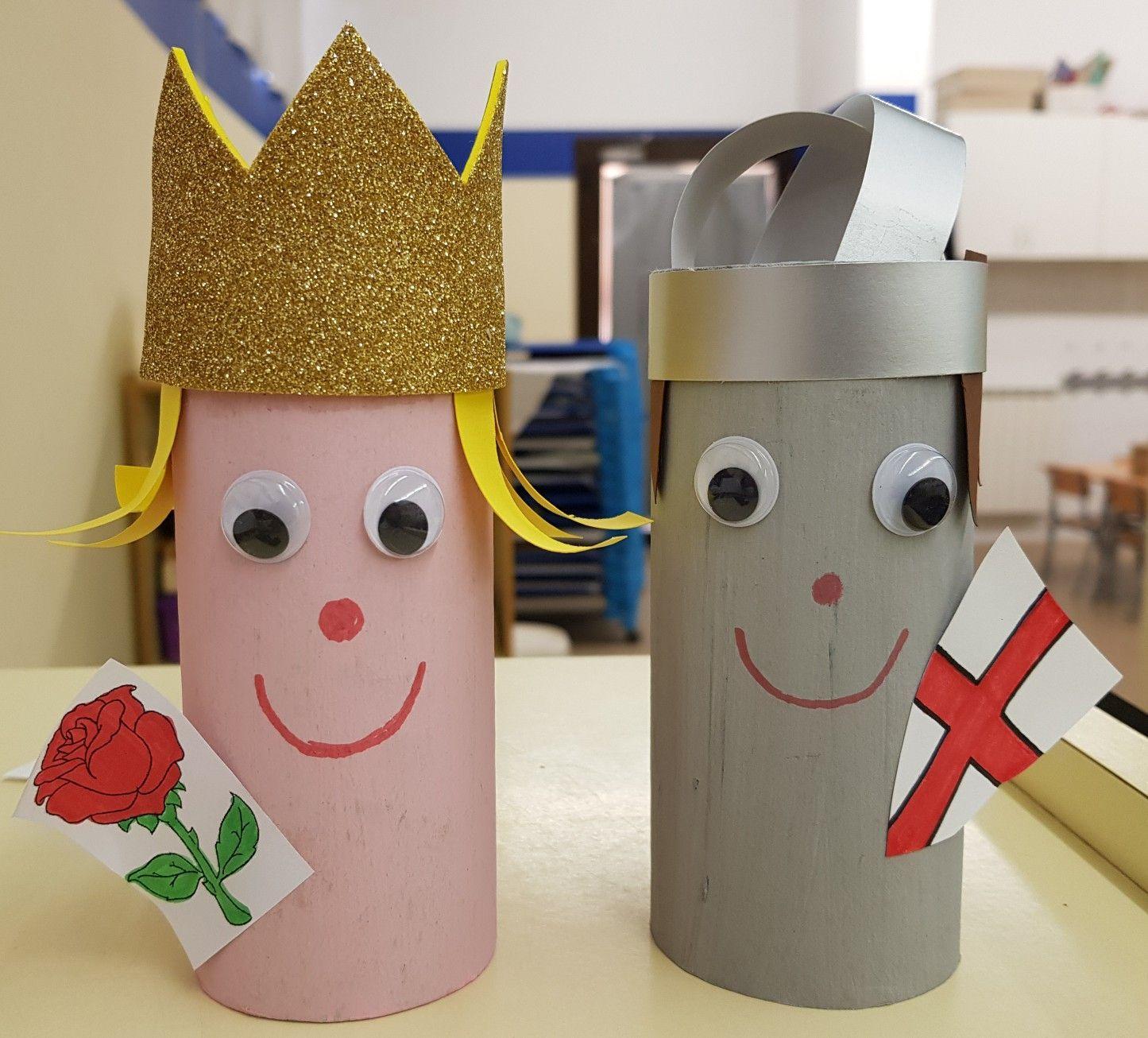 La Princesa i St. Jordi, manualitat amb rotllos de paper WC ...