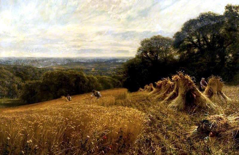 A Harvest Field Vicat Cole 1890 Glasgow museum