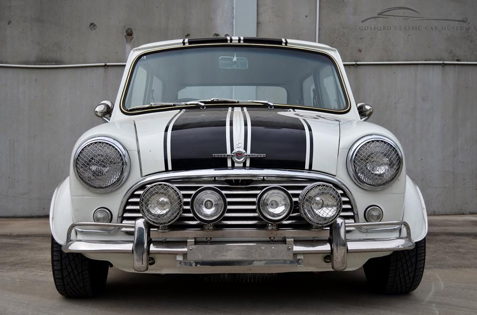 1966 Mini Cooper S. Featured in the collection at the Gosford Classic Car Museum, set to open in 2016.