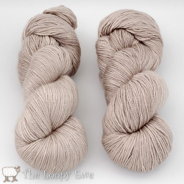 Spores from Blue Moon Fiber Arts Worthy - Fingering 437 yds, 35% bombyx silk, 65% white cashmere