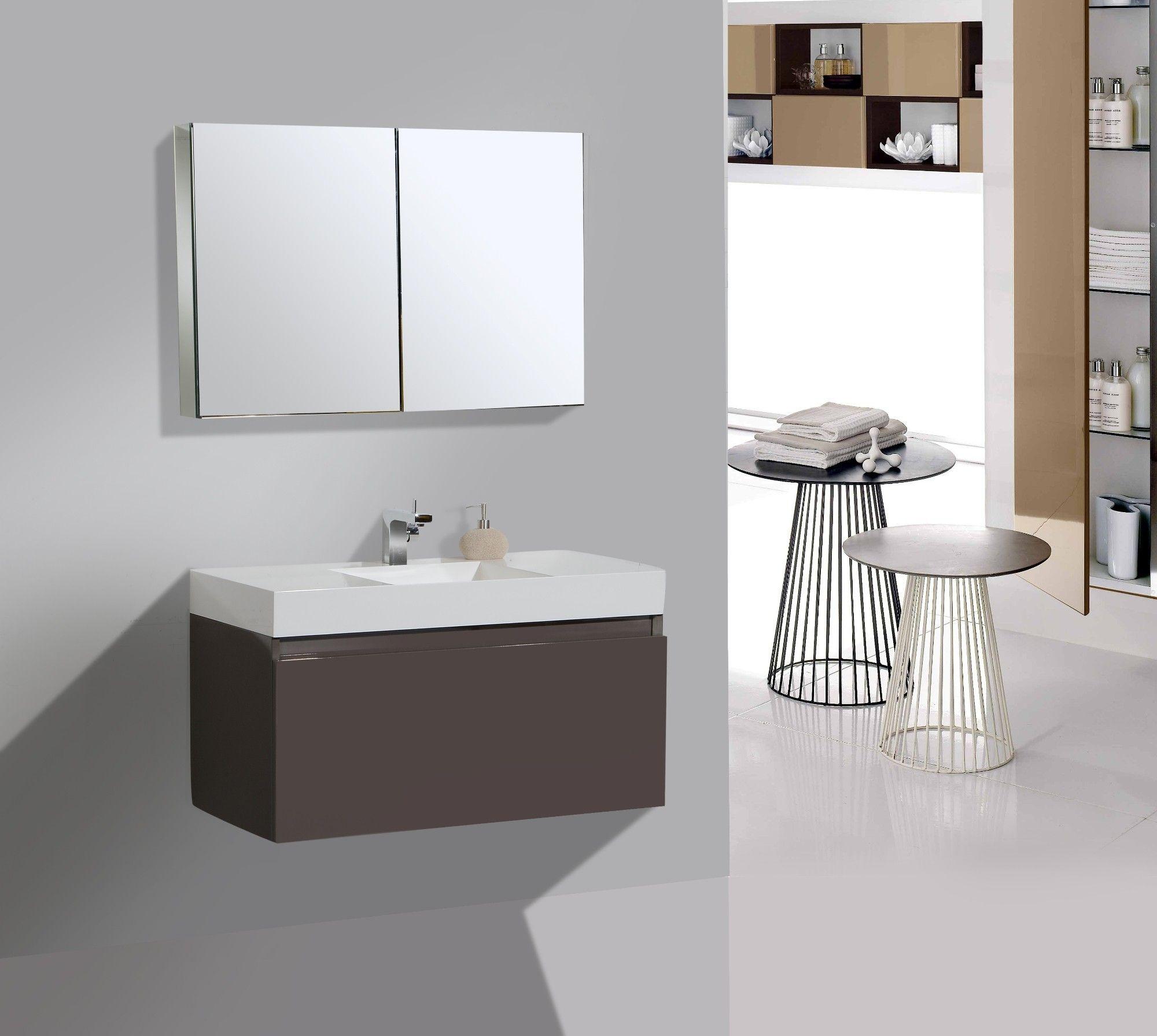 Aqua Decor Venice 39 Modern Bathroom Vanity Set W Medicine
