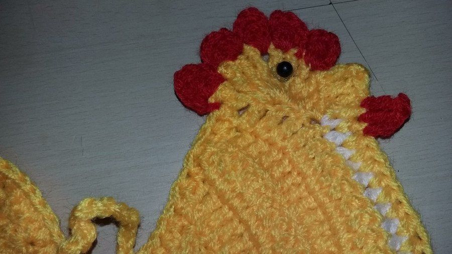 Gallinita tejida a crochet | Manualidades