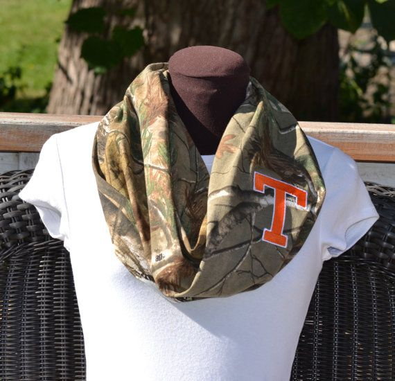 Monogrammed Realtree Camouflage Infinity Scarf by byrdlegs on Etsy, $25.00