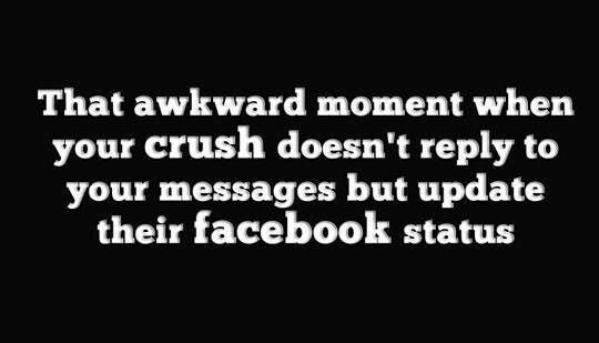 Funny Facebook Status About Crushes