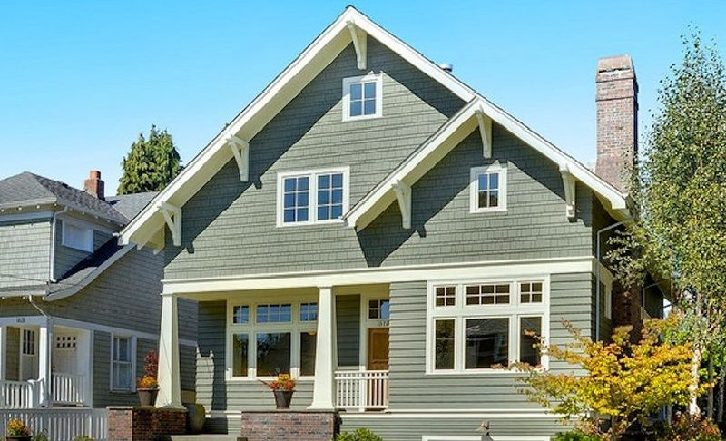 Exterior House Paint Sage Green And White Home Exterior Color
