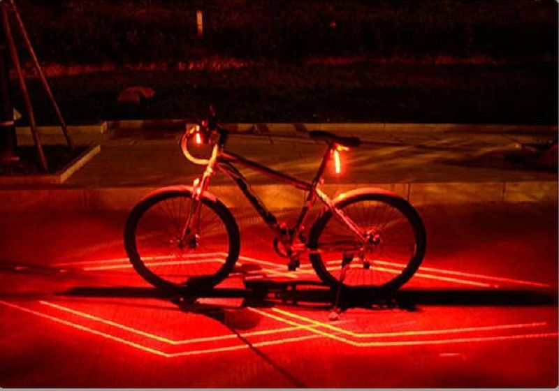Usb Rechargeable Bicycle Led Laser Tail Light Rear Bike Lights
