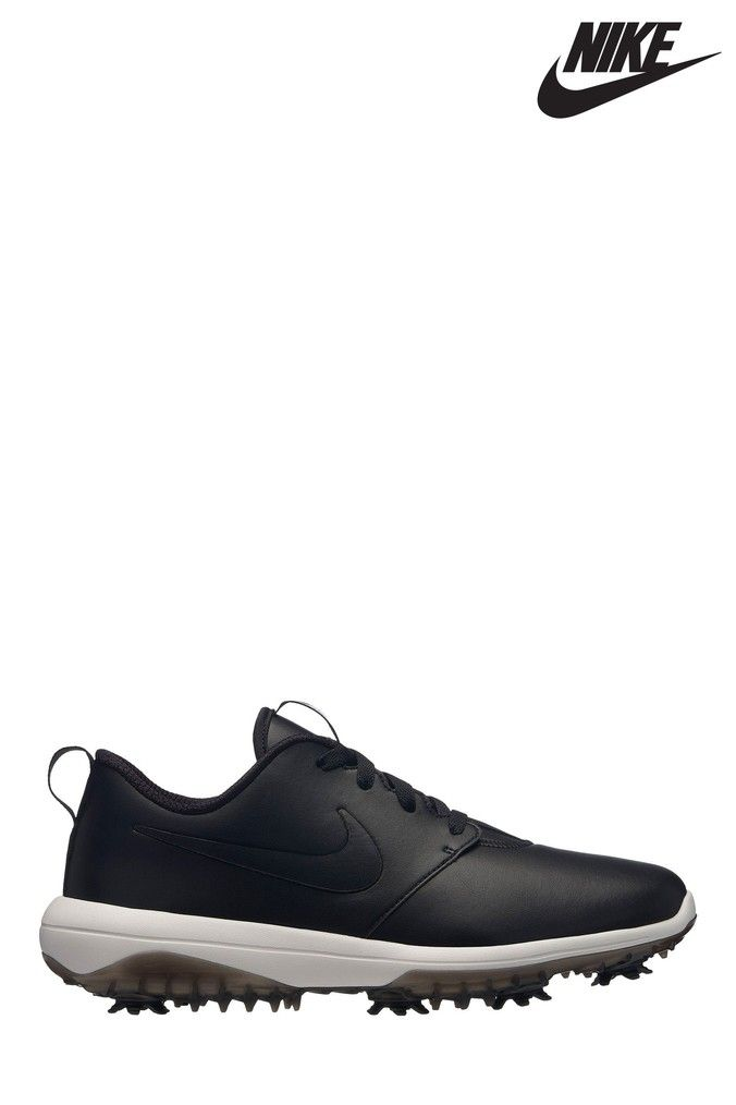 Mens Nike Golf Roshe Tour Black Golf Shoes Mens Nike Golf Roshes