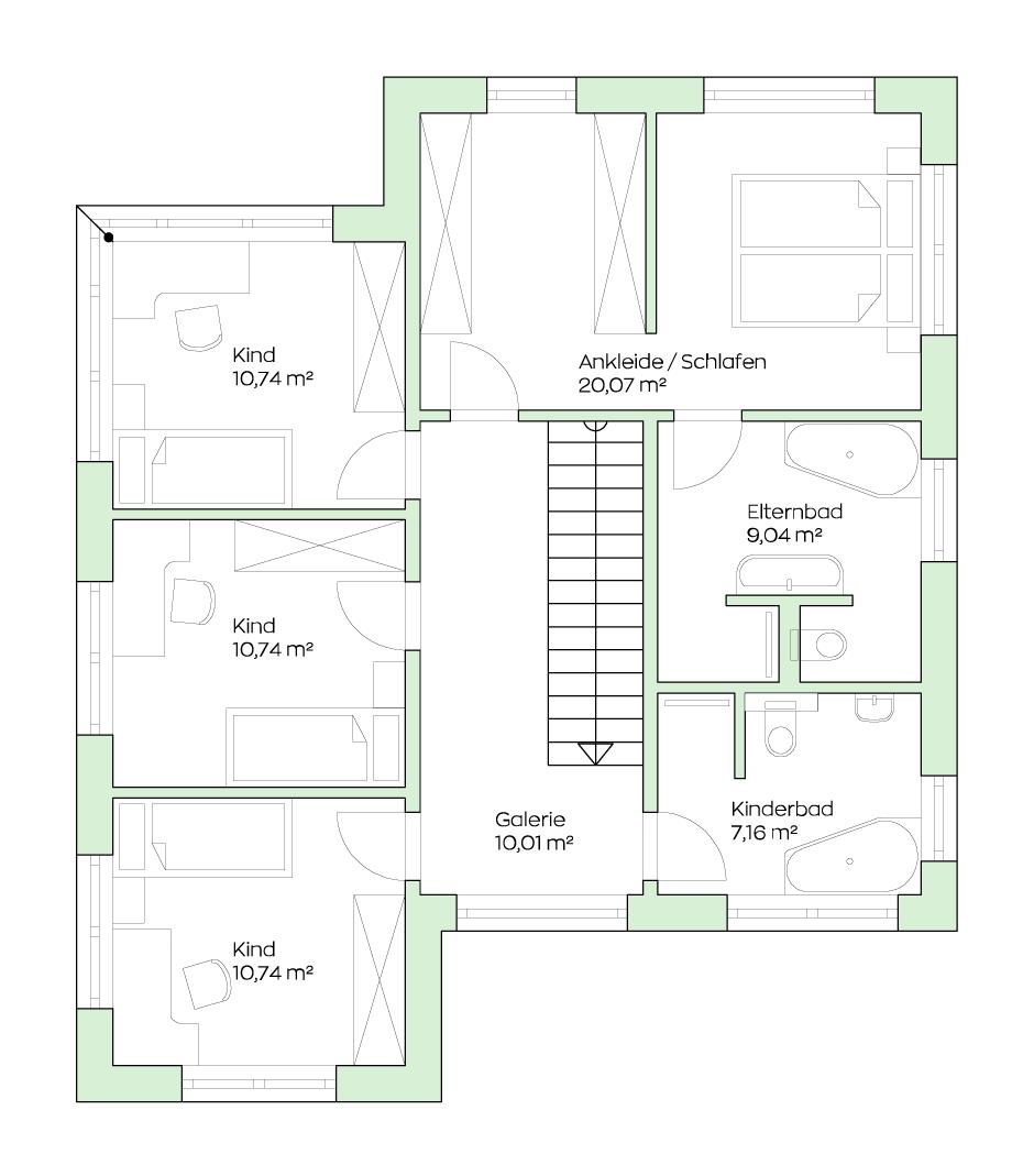 Das Fertighaus SCALA 164W – Wohlfühloase auf zwei Etagen