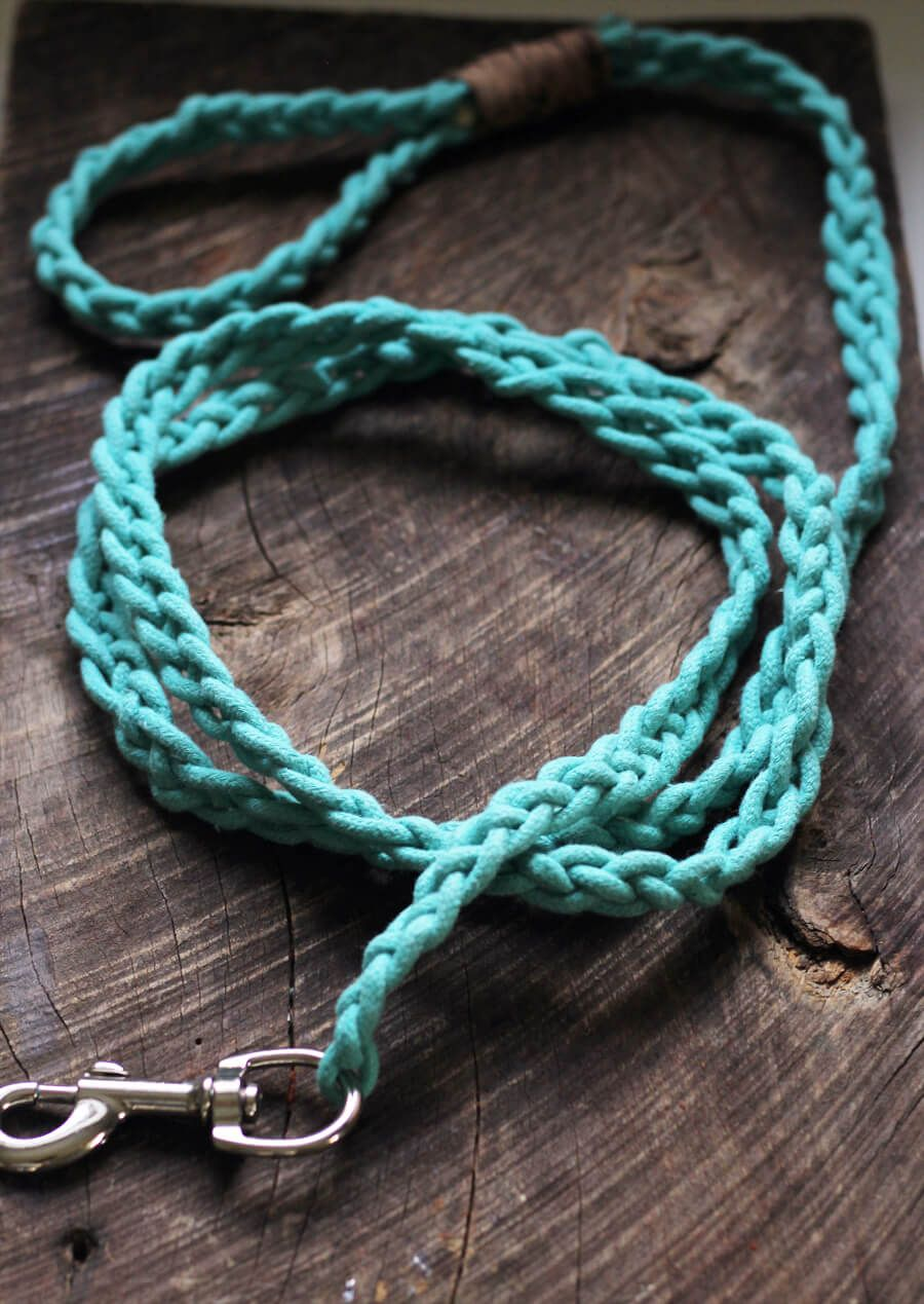 Braided Rope Dog Leash DIY Rope dog leash, Diy dog stuff