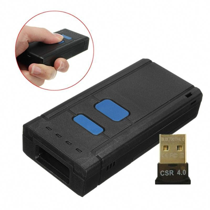 Portable 4.0 Wireless Bluetooth Barcode Scanner CCD Bar