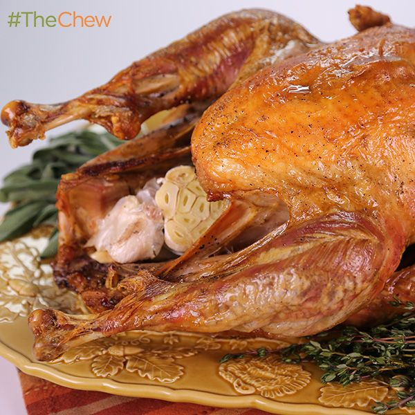 oven smoked turkey with sage and thyme by michael symon thechew smoked turkey thyme recipes the chew recipes oven smoked turkey with sage and thyme