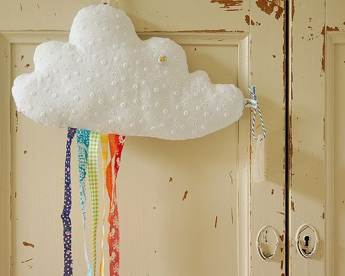 Cloud with rainbow showers mobile