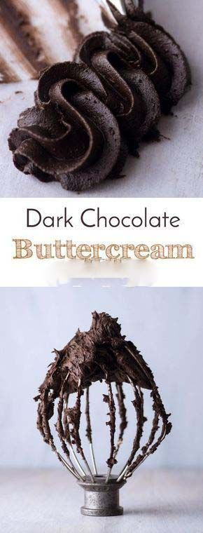 Easy Make Dark Chocolate Buttercream - All About Food Smile #icingfrosting