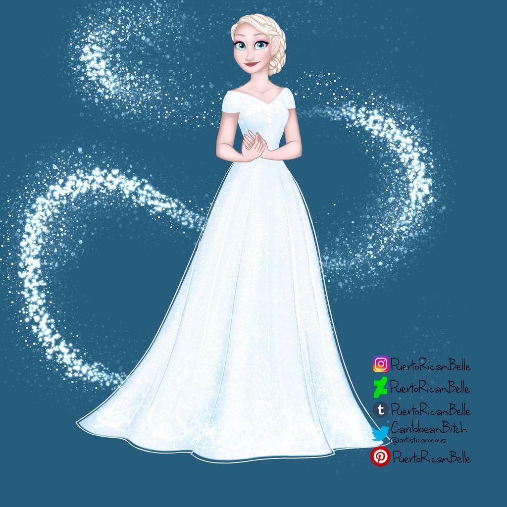 Elsa Wedding Dress By Puertoricanbelle On Deviantart Elsa Wedding Dress Disney Princess Elsa Disney Bride [ 1024 x 1024 Pixel ]
