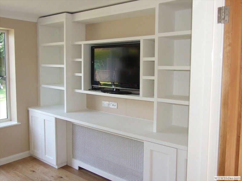 TV unit with radiator cover