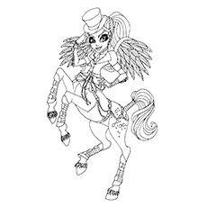 Avea Trotter From Monster High Coloring Worksheet to Print