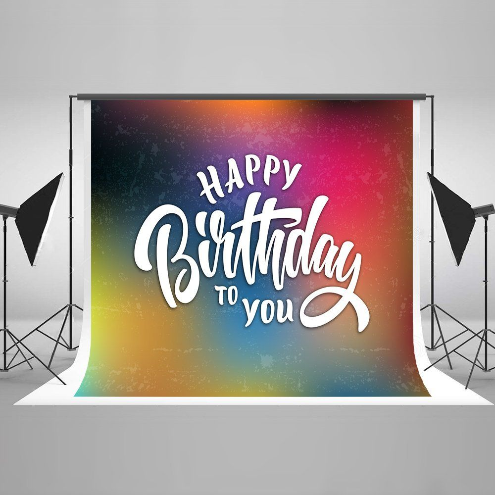 Amazon Kate 7x5ft Photography Backdrop For Happy Birthday Colorful Photo Background Cotton No