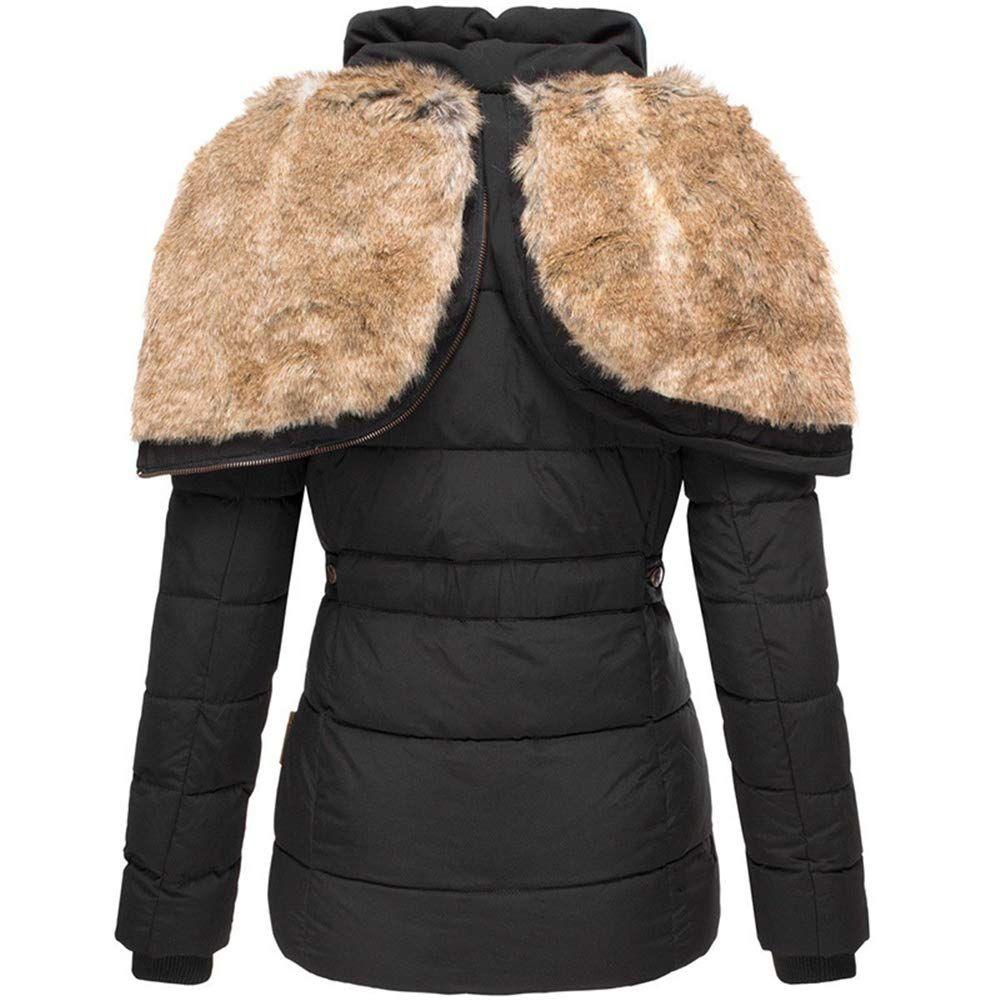 Koodred Women S Hooded Thickened Warm Winter Outwear With Faux Fur Lined Down Jacket Puffer Coat Sponsor Fur Collar Jacket Casual Outerwear Winter Coats Women [ 1000 x 1000 Pixel ]