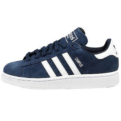 Adidas Campus Juniors S85919 Navy White Shoes Big Kids Sneakers Youth Size  6.5