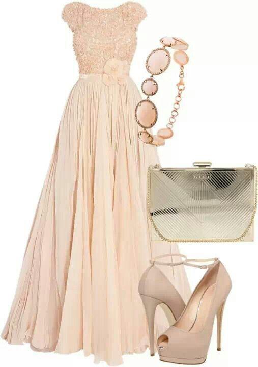 Vestido Color Durazno Vestidos Pinterest