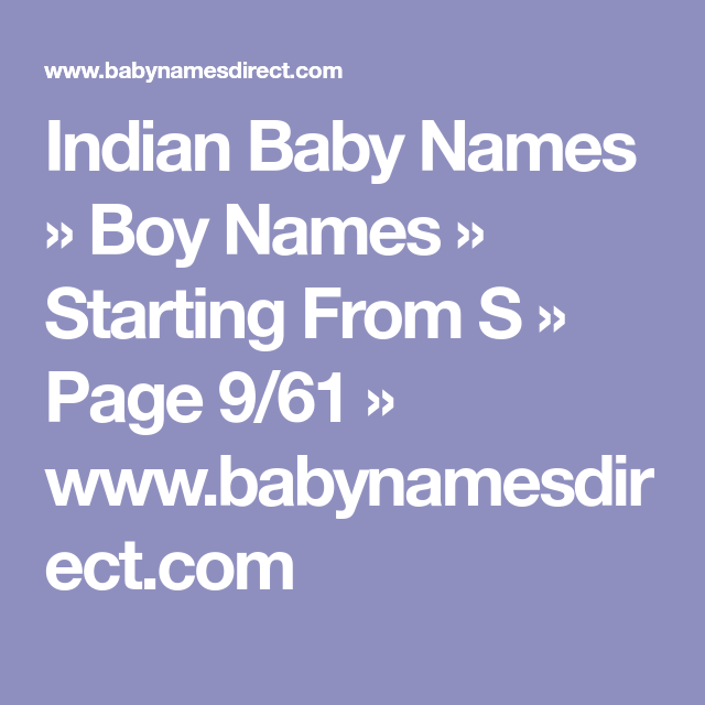 25+ Baby boy names start with s with meaning info