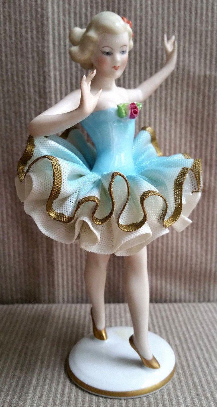 Vintage Gerold Porzellan Bavaria Lady Ballerina Dancer