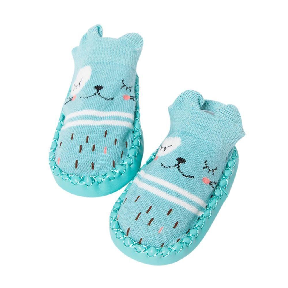 Bebé Chicas Chicos primero Caminantes Zapatos Suave Único Zapatos (11cm (0-6 meses), Oso)