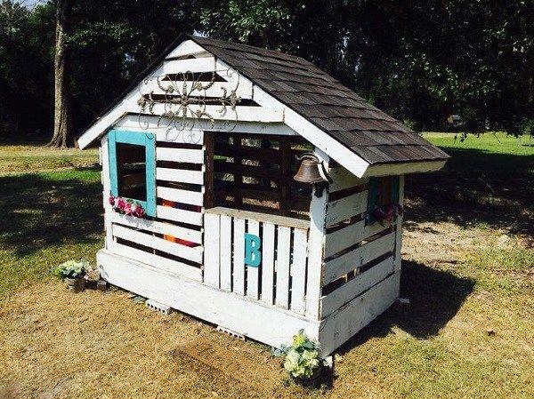 Ahşap Palet Oyun Evi Fikirleri İle Çocuklarınız Eğlensin #palettengarten