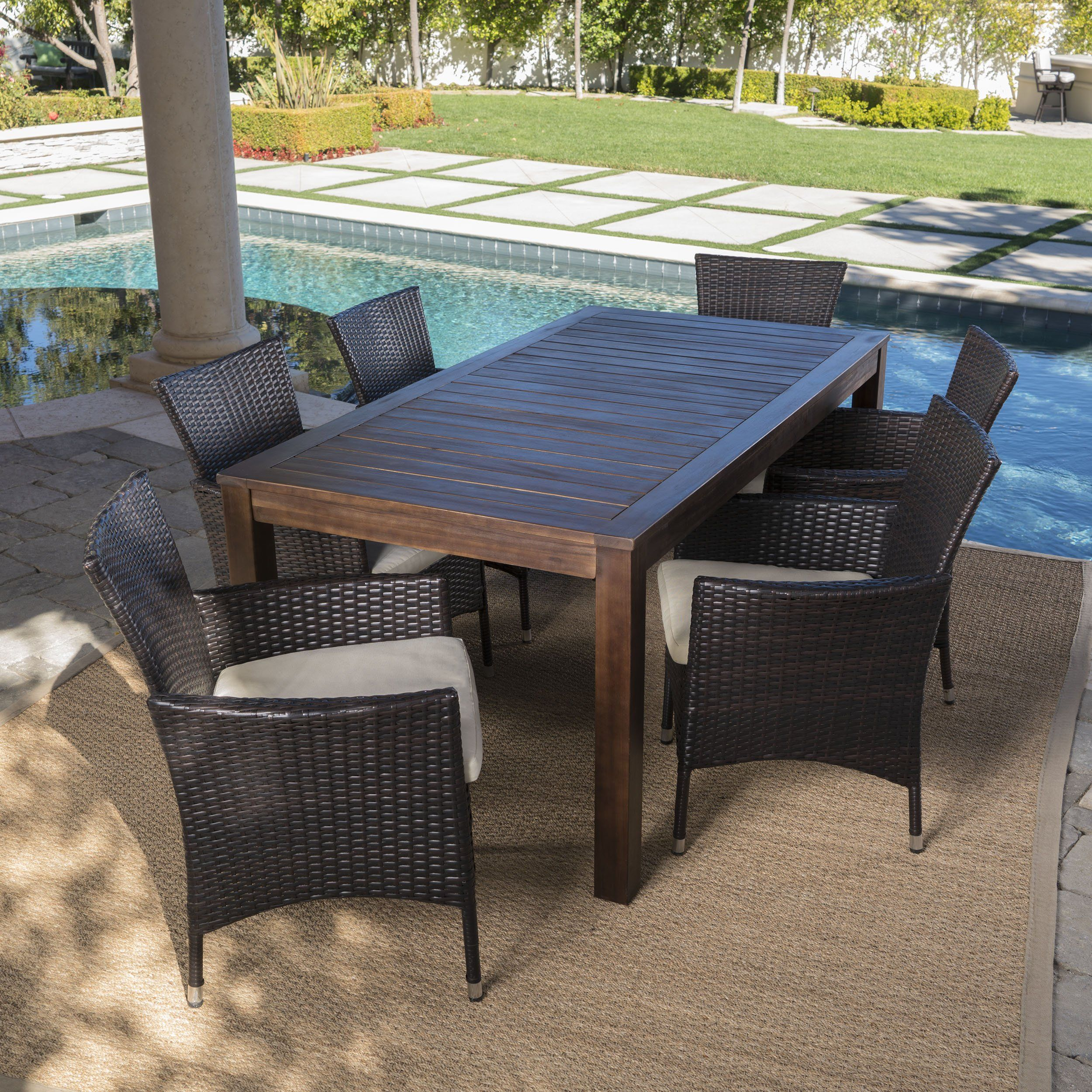 22++ Wood and wicker outdoor dining set Best Choice