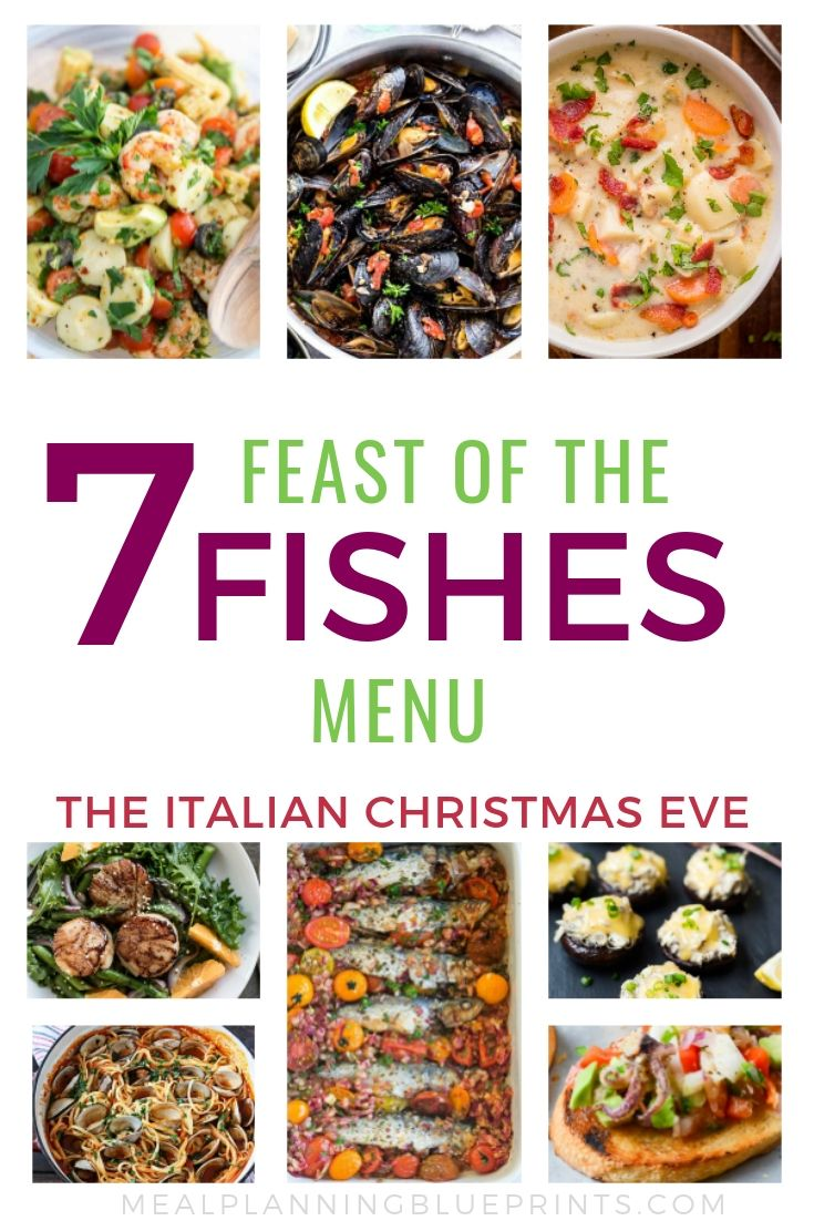 Feast of the Seven Fishes Menu the Italian Christmas Eve