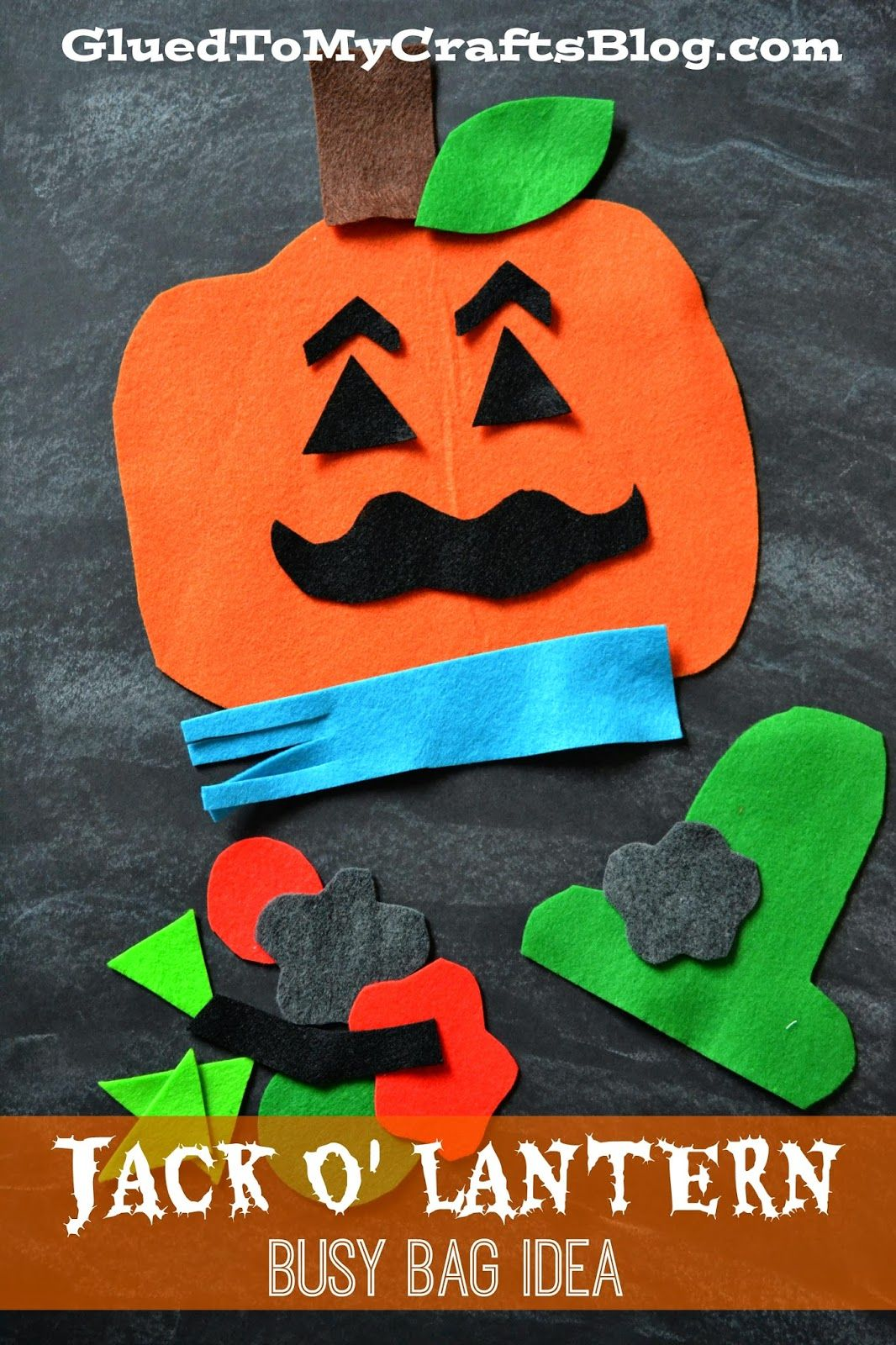 Felt Jack O Lantern Busy Bag Idea