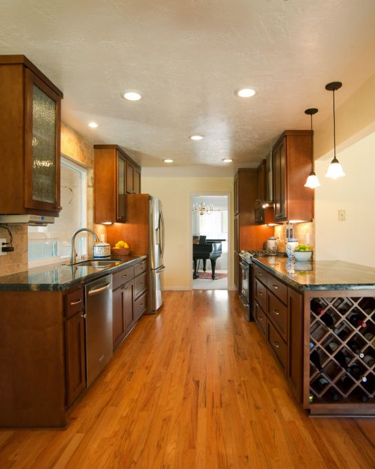 Galley Kitchen Renovation Ideas wood cabinets: a galley kitchen for grownups | kitchens