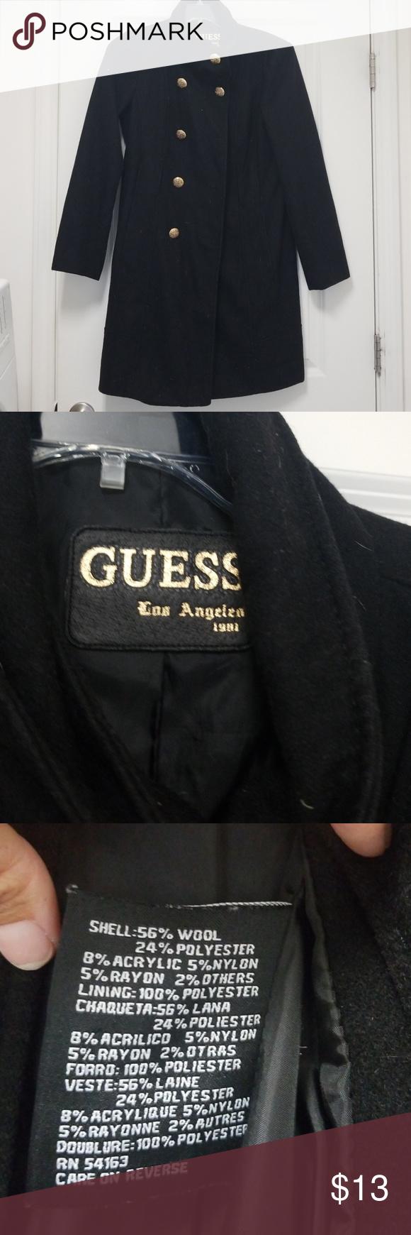 Guess Los Angeles 1981 Wool Coat Wool Coat Coat Guess [ 1740 x 580 Pixel ]