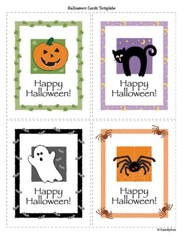 image regarding Printable Halloween Cards identified as Halloween Playing cards (Printable Game for Young children) Spoonful
