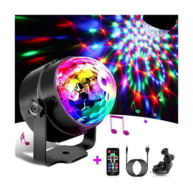 Disco Lights - Techole Sound Activated Party Lights with 4M/13ft USB ...