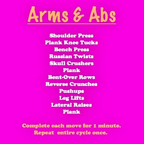 arms  abs workout  arms and abs friday workout upper