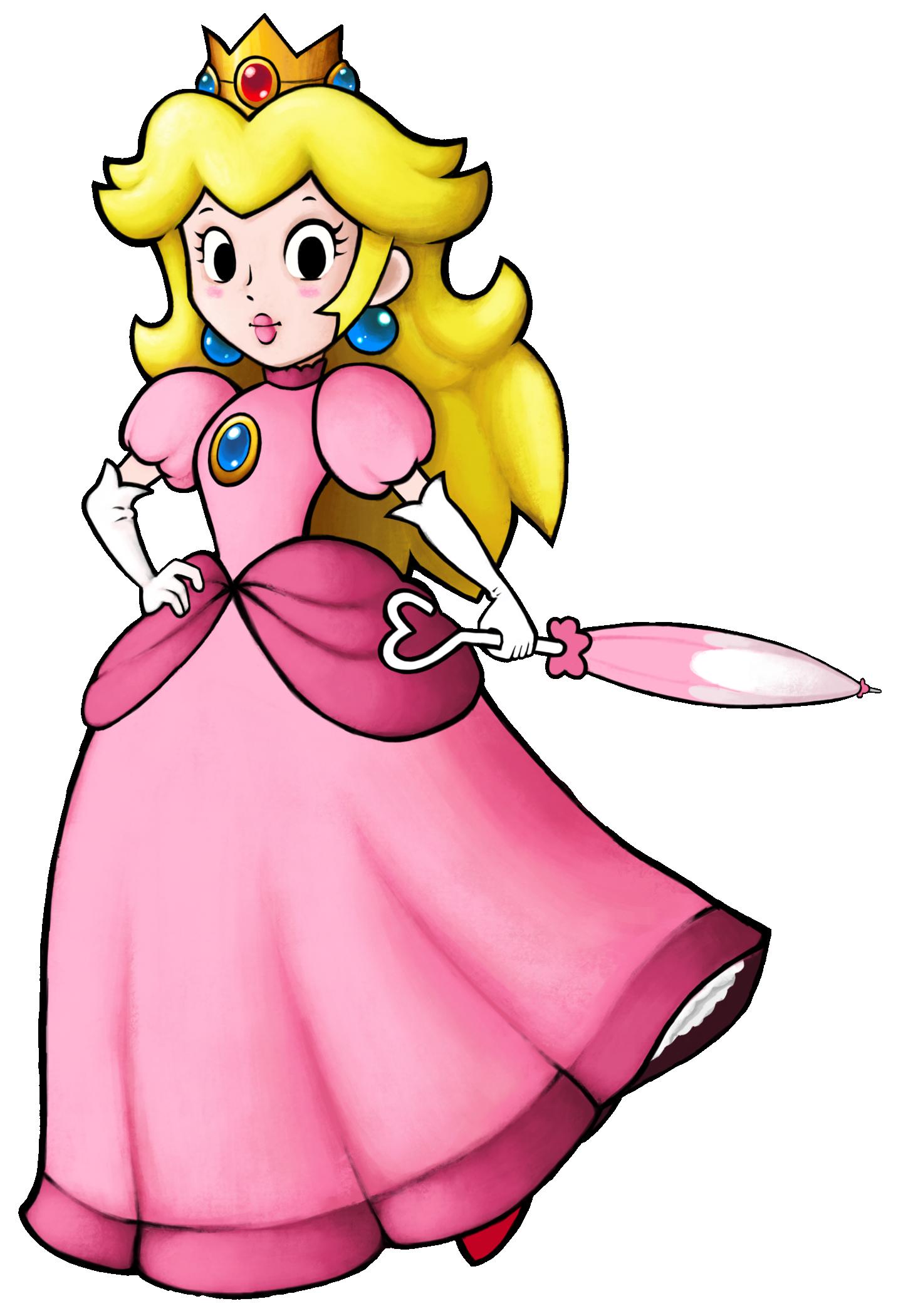 Transparent Princess Peach