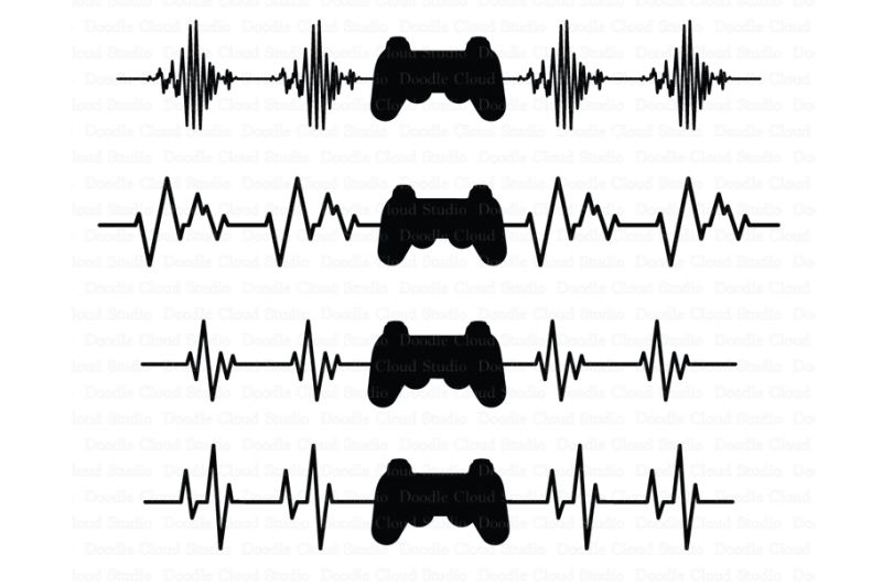 Free heartbeat game controller svg files heart beat line