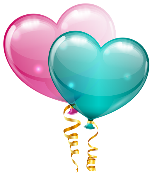 foto de Pink and Blue Heart Balloons PNG Clipart Image