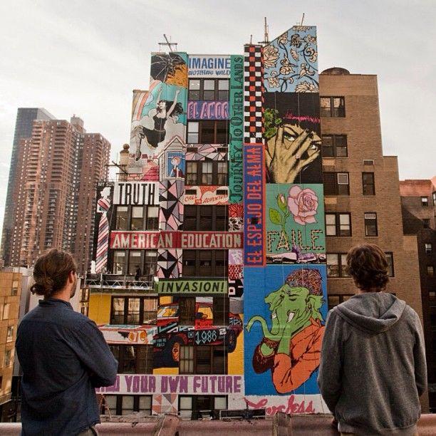 Te emitieron una licencia de manejar, puedes usar esa licencia para manejar legalmente en nys por 60 días. Faile S Largest Mural In Nyc Wooster Collective 321 W 44th St Nyc Street Art Artists Murals In Nyc Murals Street Art